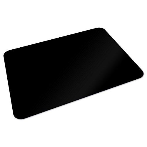 Office Marshal® Bodenschutzmatte | 90 x 120 cm für Hartböden | ohne schädliche Weichmacher und PVC | Schwarz