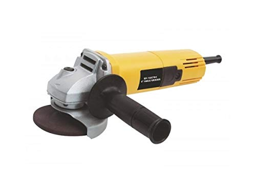 Spartan DW801 Heavy Duty 850W 11000Rpm 100Mm Angle Grinder with Free Bosch Grinding and Cutting Wheel, Yellow