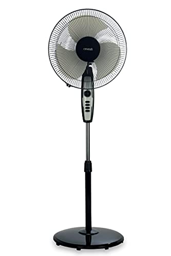 Croma 120 Watts 400 mm Pedestal Fan with Adjustable Height and 2 Years Warranty(CRF0022, Black)
