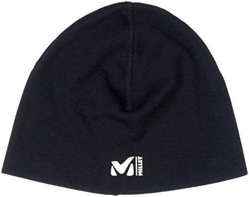 Millet - Helmet Wool Liner - Bonnet Mixte en Laine Mérinos - Ski, Alpinisme, Escalade - Noir