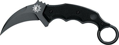 FKMD Erwachsene Messer Kuku Hanuman Karambit Black, schwarz, 21cm