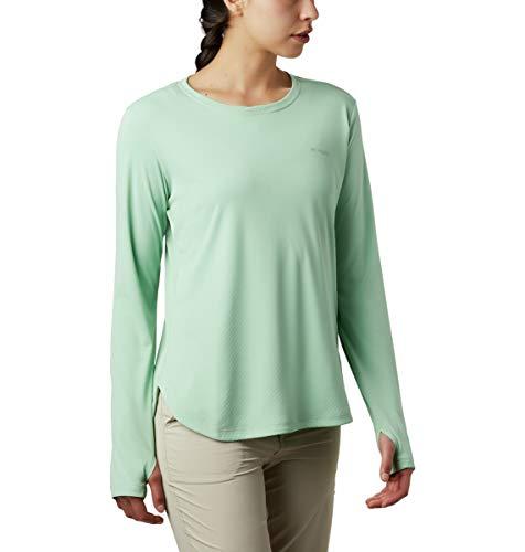 Columbia Damen PFG Zero Langarmshirt, UV-Sonnenschutz, feuchtigkeitstransportierendes Material, Damen, PFG Zero Long Sleeve Shirt, New Mint, X-Small