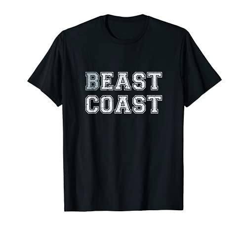 East Coast Beast Coast - Diseño rayado Camiseta