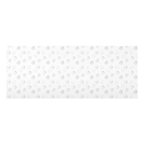 Bilderwelten Panel antisalpicaduras de Cristal Watercolor Points Gray Panorámico 50x125cm