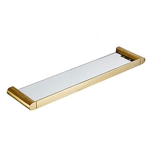 GYL Tempered Glass Shelf Estante de Cristal XSJZ, Dorado Cep