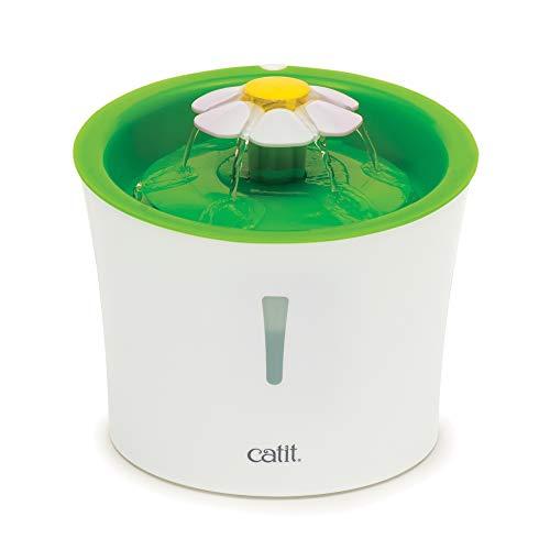 catit Flower Fountain Blumentrinkbrunnen 3L - immer frisches Wasser für Ihre Katze, durch ständige Filterung
