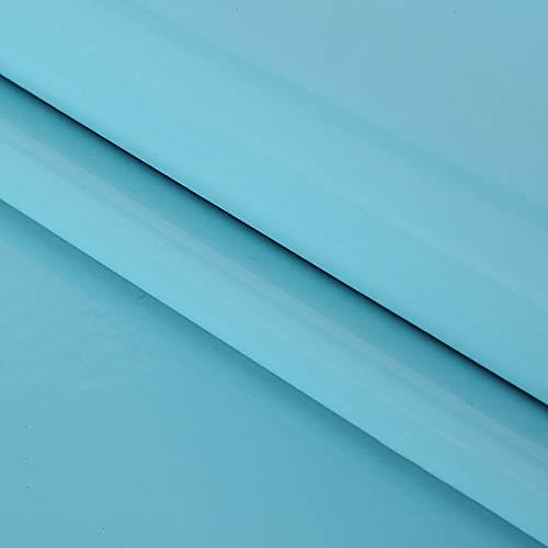 MUYUNXI Polipiel Cuero Artificial De Cuero para Tapizar Sofá Polipiel Silla Manualidades Cojines 138 Cm De Ancho Vendido por Metro(Color:Cielo Azul)