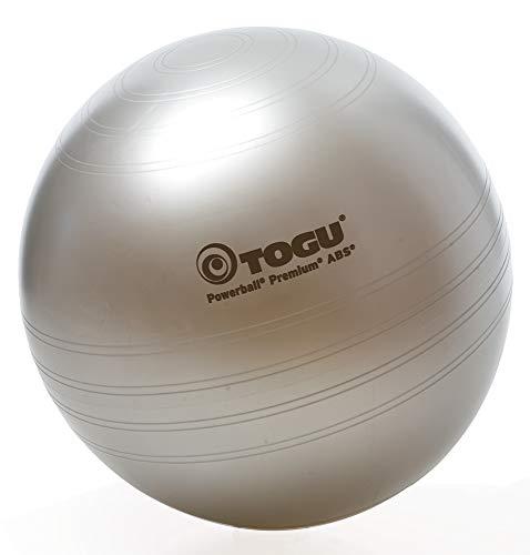 Togu Gymnastikball Powerball Premium ABS (Berstsicher), silber, 65 cm