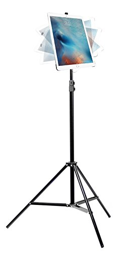 iShot G8 Pro iPad Pro 12.9 Tripod Mount and Stand Bundle Kit - Includes: iPad Pro 12.9 Mount + Tripod Stand w/Bag + 360° Locking Swivel Ball Head - Compatible with iPad Pro 12.9' 1st and 2nd Gen.