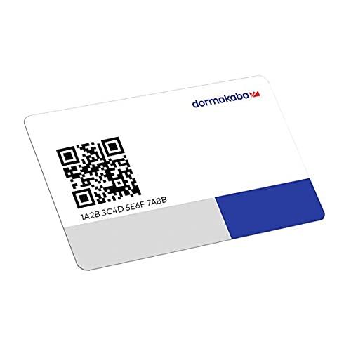 dormakaba evolo smart RFID-Benutzerkarte/Benutzerausweis/RFID Medium Typ KF02-BE-LEA-4K-QRC