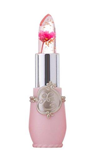 wuayi Kristall Blume Jelly Lippenstift Magie Temperatur Ändern Farbe Schönheit Helle Lippenschutz (B)