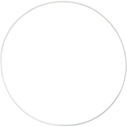 Anello in filo metallico, D: 30 cm, cerchio, 5 pezzi.