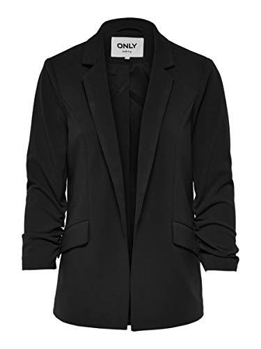 Only ONLCAROLINA Diana 3/4 Blazer CC TLR, Black, 42 (Taglia Produttore: 36) Donna