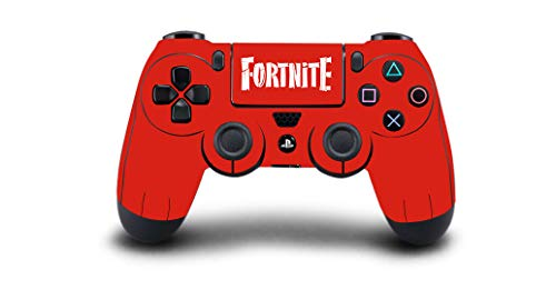 PS4 Controller Vinyl Sticker Decal Skin Wrap Scratch Protection - Red Fortnite Design - PlayStation 4 Controller