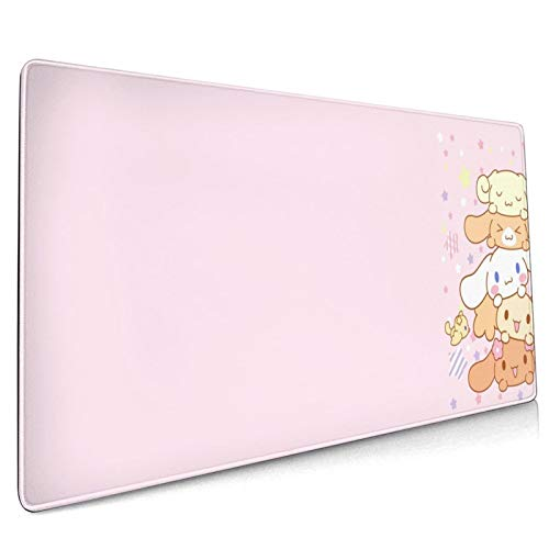 San-Rio Cinnamoroll Themed Mouse Mat for Home Desk Desk Protector Comfortable Mouse Pad Non-Slip Rubber Base Anime Computer Gaming Durable… (Sanrio Cinnamoroll 9)