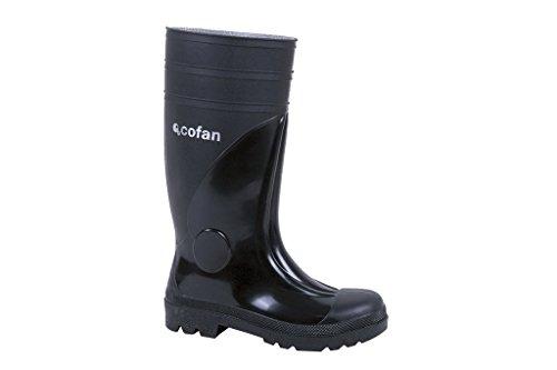 Cofan 12001542 Bota de agua con puntera y plantilla de acero, Negro, S-5, T-42