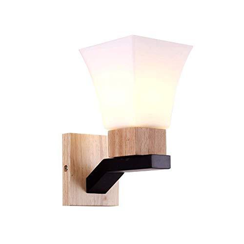 Zpzzy Apliques de Pared creativos nórdicos Dormitorio Moderno Luz de Pared de Noche Pantalla de Cristal Sala de Estar TV Fondo Pared Luminaria de Pared