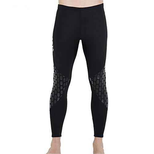 ACCLD Chaquetas de traje de buceo de 3 mm para hombre, pantalones de manga larga, traje de buceo para surf, snorkel, pantalones cortos de 1,5 mm, M