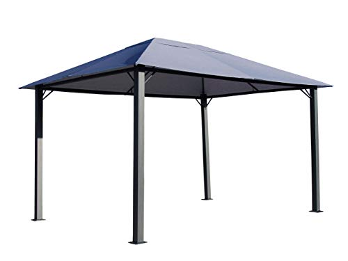 QUICK STAR Metall Garten Pavillon Paris 3x4m Antik Grau Partyzelt