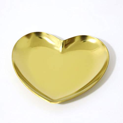 Goldschmuck Edelstahlscheibe von kleinen Perlen Ablageschale Bär dekorativen Schmuckspeicherplattenkassettenaufbewahrungsfach herzförmig