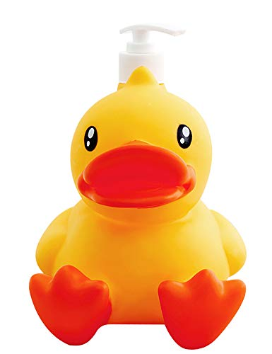 Nerien Cute Home Lotion&Soap Empty Bottle Duck Shaped Kitchen Bathroom Countertop Shower Dispensers