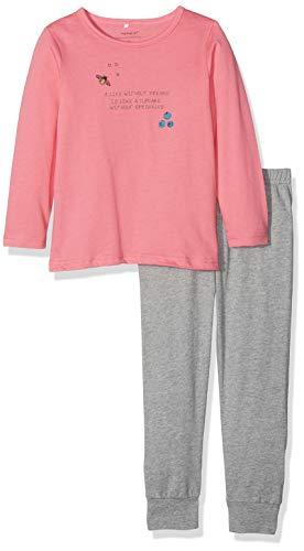 NAME IT Baby-Mädchen NMFNIGHTSET Mel 1 NOOS Zweiteiliger Schlafanzug, Mehrfarbig (Grey Melange Grey Melange), 86
