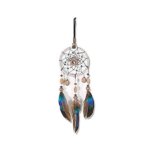 Fait à la Main Dream Catcher Filet Circulaire avec des Perles de Plumes dans Une boîte Cadeau pour la Maison Mur Voiture Pendaison décoration Ornement Cadeau