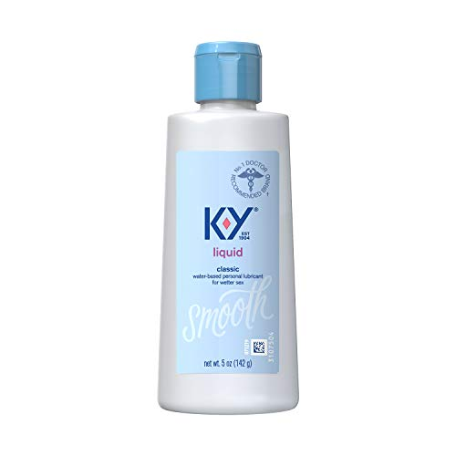 K-Y Liquid Personal Lubricant 5 oz, Premium Natural Feeling Water-Based Lube for Men, Women & Couples (Pack of 4)
