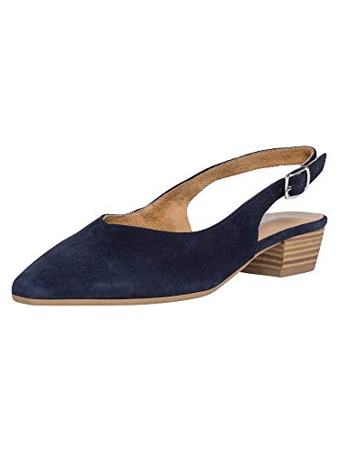 Tamaris Damen Pumps 29405-24, Frauen Sling-Pumps, knöchelriemchen büro-Pumps Office bequem elegant weibliche Ladies,Navy,37 EU / 4 UK