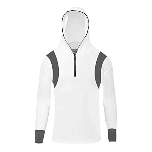 Setsail Herren Bequemes Top Long Sleeves Tops Hoodie Sweatshirts Angelanzug Reißverschluss Mode-Top