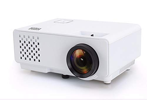 Mini videoproiettore portatile 1000 Lumen Reali Full HD 1080P Compatibilità iOs e Android Display da 120' Proiettore Cinematografico con 50,000 ore Cavo hdmi