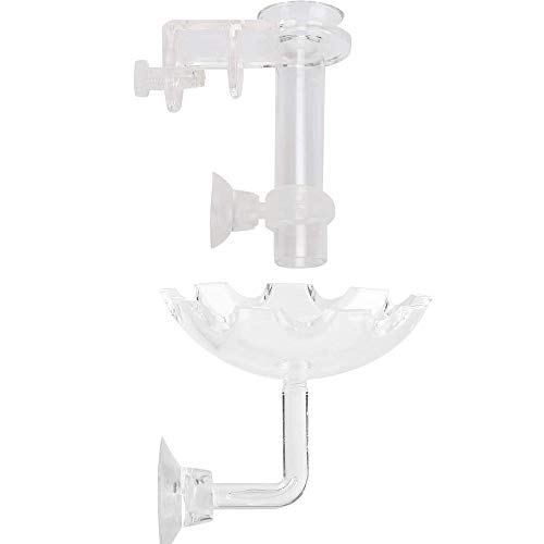 Bayda - Fuente y tubo de alimentación para gambas de acuario