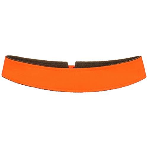 Lipodo Signalband für Hüte Damen/Herren (ca. 4,5 cm breit) - Hutband mit Fleecefutter Leuchtend - Reflektierendes Band für Hut auffällig - passend für Hutgrößen von 55-65 cm Neonorange One Size