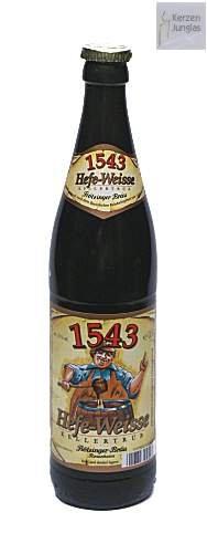 Bierflaschenkerze / Kerze Bierflasche Flötzinger Hefe Weisse - 2028 - Bayerische Geschenke - Bayrische Kerze