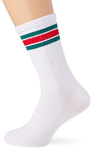JACK & JONES Herren JACWIND NOOS Socken, Weiß (White Detail: Green), (Herstellergröße: One Size)