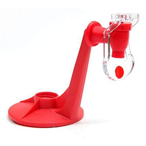 Dispensador de soda Saver Tap mágico Botella de dispensación de agua potable Coca-Cola boca abajo Dispensador de bebidas Party Bar Kaemma(Color:Red)