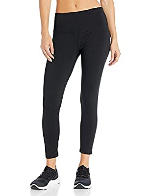 "Starter Women's 24"" Cropped Performance Workout Legging, Amazon Exclusive, Black, Extra Large"