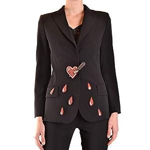 Moschino Luxury Fashion Damen J05115241555 Schwarz Polyurethan Blazer | Frühling Sommer 20