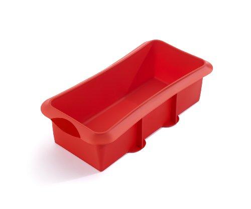 Lékué Rectangular 28 Rojo Molde Repostería, Silicona, 28 cm