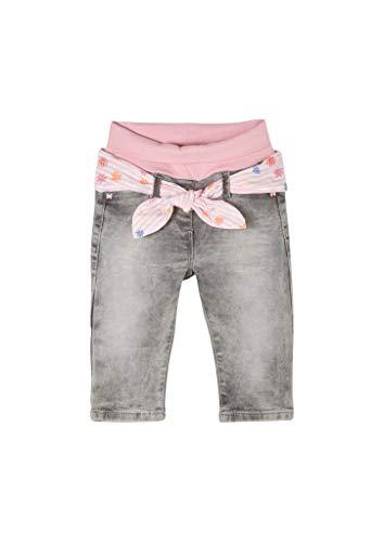s.Oliver Unisex - Baby Jeans mit Stoffgürtel light grey 74