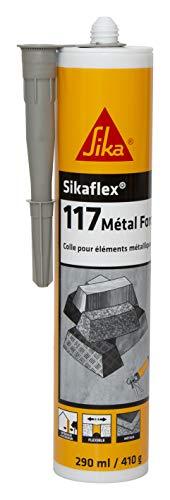 Sikaflex-117 Metal Force hellgrau, Baukleber, Polymer-Dichtstoff für alle Metall-Dachelemente, Metall-Dachmasse für Bleche und Fassaden, inn/außen, 290 ml
