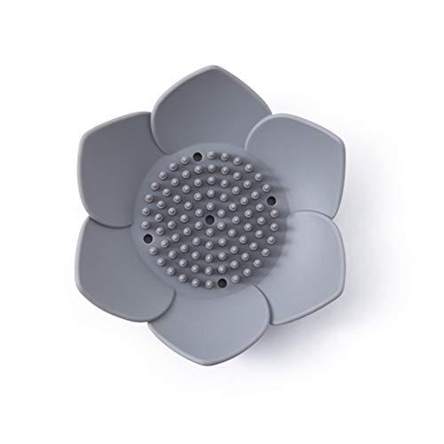 Macabolo Kreative Blume Form Silikon Seife Drain Halter Badezimmer Seifenkiste Seifenschale für Badezimmer-Dusche