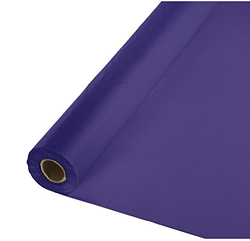 Creative Converting Roll Plastic Table Cover, 100-Feet, Purple