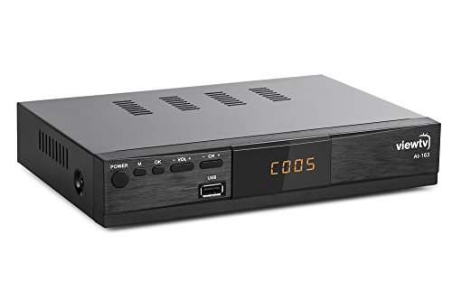 Viewtv AT-163 ATSC Digital TV Converter Box and Media Player w/ Recording PVR Function / HDMI Out / Coaxial Out / Composite Out / USB Input