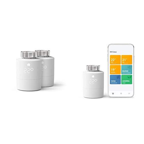 tado° Smartes Heizkörper-Thermostat Starter Kit V3+ (Intelligente Heizungssteuerung) + Heizkörper-Thermostat Duo Pack (Zusatzprodukte für Einzelraumsteuerung)