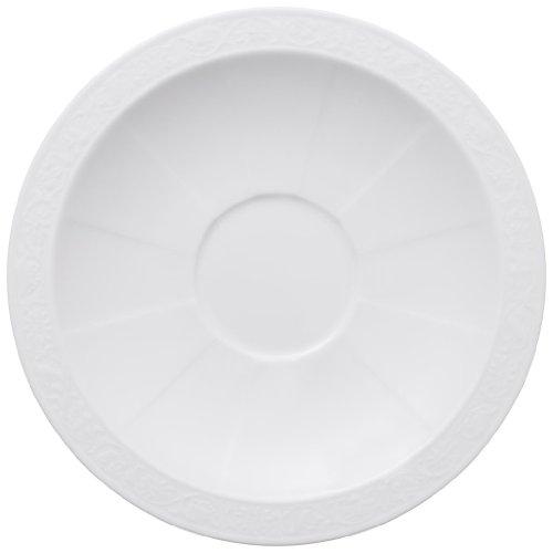 Villeroy & Boch 10-4389-1250 Sous-tasse à Petit-déjeuner Porcelaine Blanc 22 x 23 x 7 cm 1 Sous-tasse