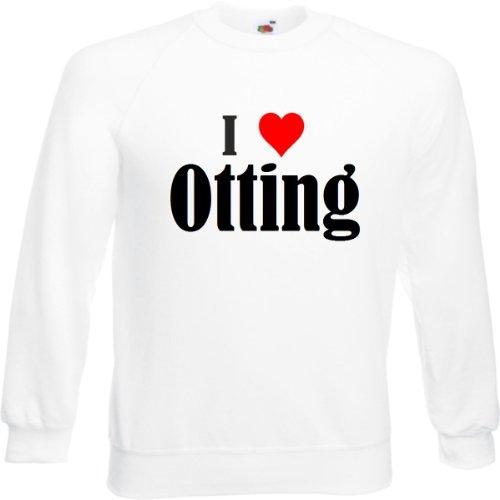 Reifen-Markt Sweatshirt I Love Otting Größe 2XL Farbe Weiss Druck Schwarz