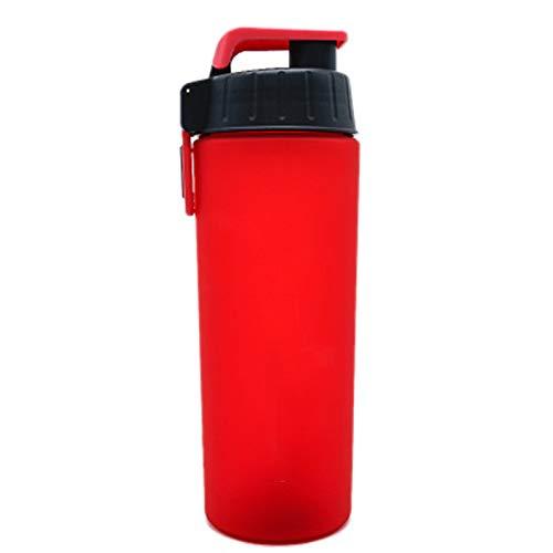 Coctelera de proteínas, botella mezcladora con tapa roscada 100% a prueba de fugas 800 ml con bola, para entrenamiento deportivo, sin Bpa