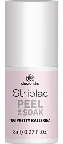 alessandro Striplac Peel or Soak Pretty Ballerina – LED-Nagellack in zartem Rosa – Für perfekte...