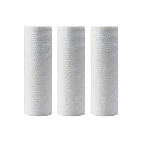 Niet-geweven stof, Wegwerpreinigingsdoekje, Geperforeerde poetsdoek, 50 vellen, 3 rollen, Milieubescherming, 100% biologisch afbreekbaar, Wit